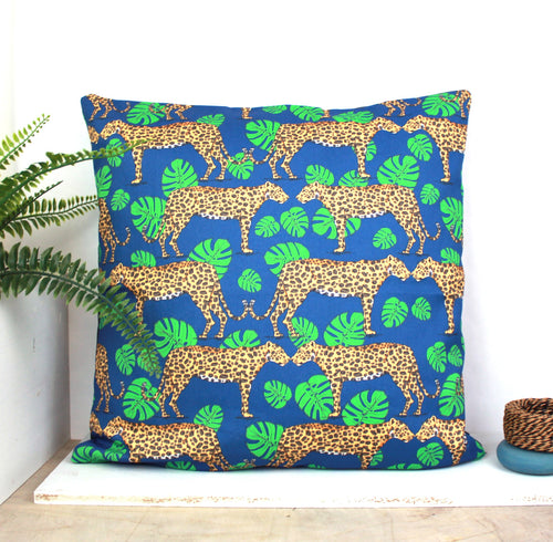 Leopard Cushion - Martha and Hepsie