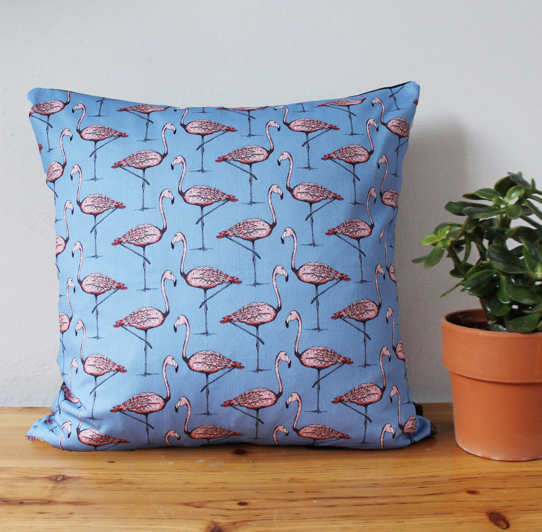 Pink Flamingo Cushion - Martha and Hepsie