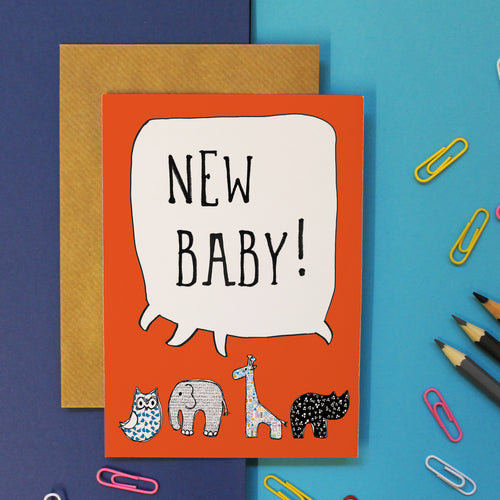 New Baby Card - Martha and Hepsie