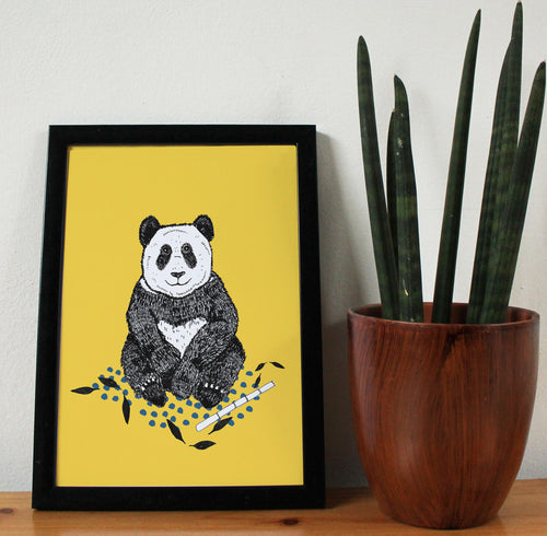 Panda A4 Art Print - Martha and Hepsie