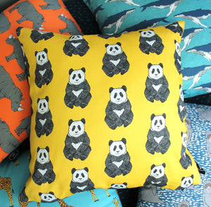Panda Cushion - Martha and Hepsie