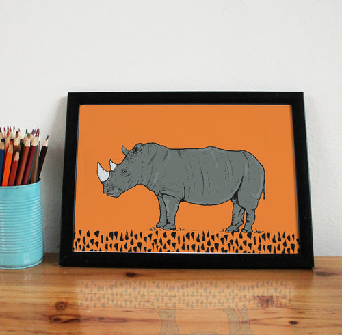 Rhino A4 Art Print - Martha and Hepsie
