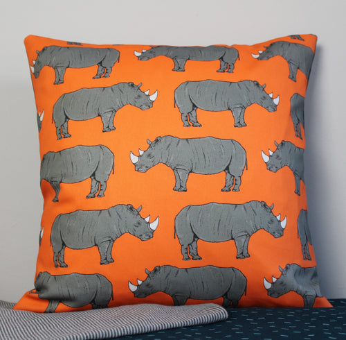 Rhino Cushion - Martha and Hepsie
