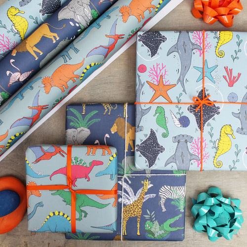 kids wrapping paper pack