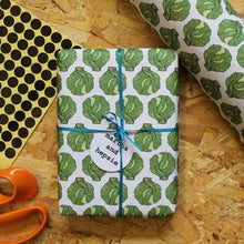 Load image into Gallery viewer, Brussels Sprout Christmas Gift Wrap - Martha and Hepsie