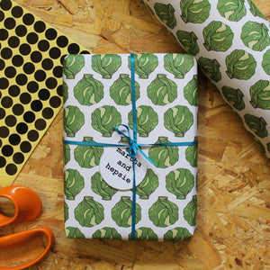 Brussels Sprout Christmas Gift Wrap - Martha and Hepsie