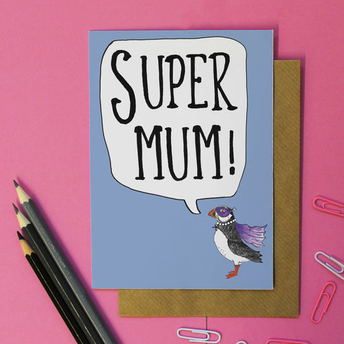 Super Mum Card - Martha and Hepsie