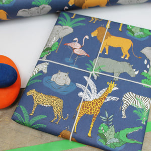 Jungle Animal Wrapping Paper