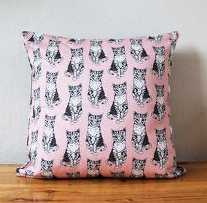 Pink Cat Cushion - Martha and Hepsie