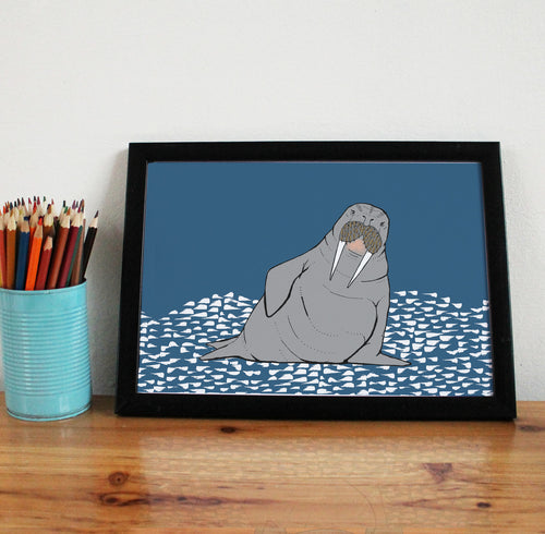 Walrus A4 Art Print - Martha and Hepsie