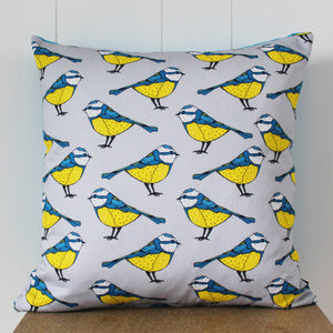 Blue Tit Bird Cushion - Martha and Hepsie