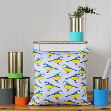 Load image into Gallery viewer, Blue Tit Bird Cushion - Martha and Hepsie