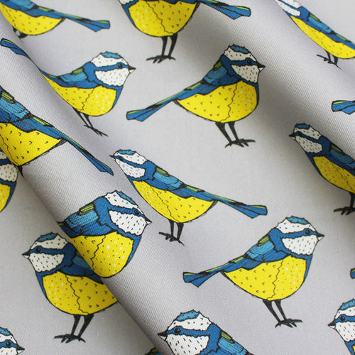 Blue Tit Bird Fabric - Martha and Hepsie