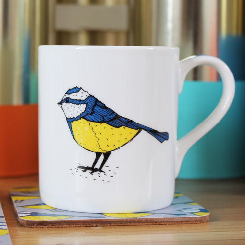 Blue Tit Bird Mug - Martha and Hepsie