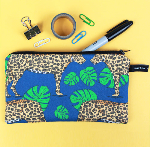 Leopard Pencil Case - Martha and Hepsie