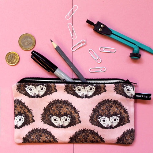 Pink Hedgehog Pencil Case - Martha and Hepsie