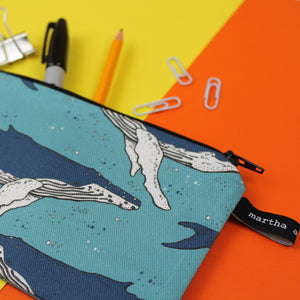 Whale Pencil Case - Martha and Hepsie