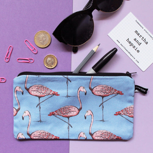 Flamingo Pencil Case - Martha and Hepsie