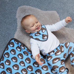 Blue Hedgehog Baby Blanket - Martha and Hepsie