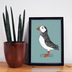Puffin A4 Art Print - Martha and Hepsie