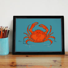 Turquoise Crab A4 Art Print - Martha and Hepsie
