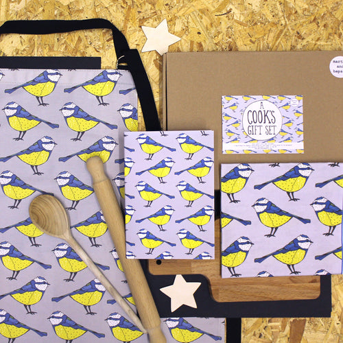 Blue Tit Bird Cooks Gift Set - Martha and Hepsie