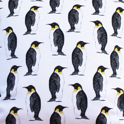 Monochrome Penguin Fabric