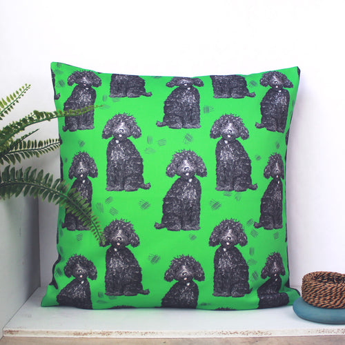 Labradoodle Dog Cushion - Martha and Hepsie