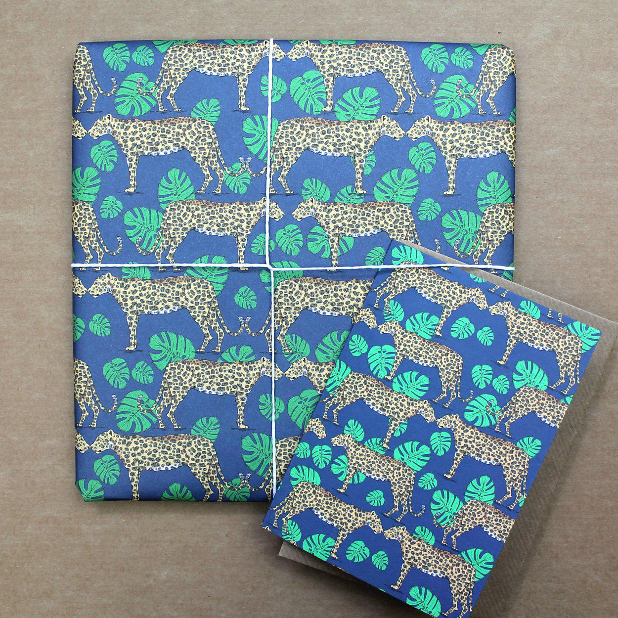 ... Leopard and Monstera Leaf Gift Wrap ...