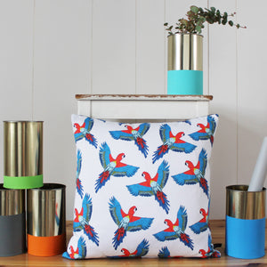 Tropical Parrot Cushion - Martha and Hepsie