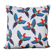 Load image into Gallery viewer, Tropical Parrot Cushion - Martha and Hepsie