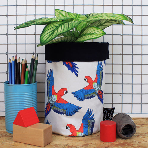 Tropical Parrot Storage Basket - Martha and Hepsie