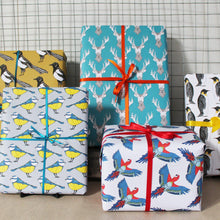Tropical Parrot Gift Wrap - Martha and Hepsie