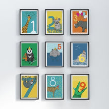 Load image into Gallery viewer, number nursery prints