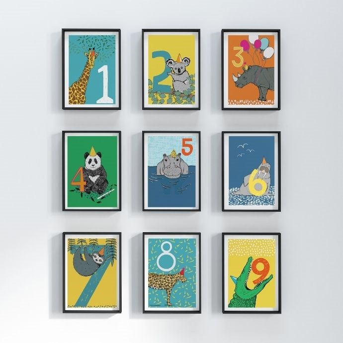 number nursery prints