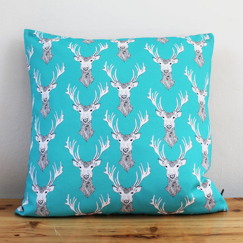 Stags Head Cushion