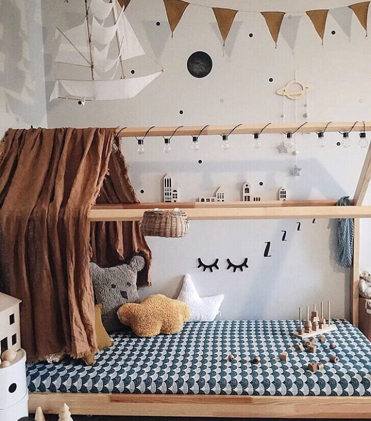 Scandinavian- Montessori bed - Color choice available - toddler bed, floor bed, children's furniture, wood bed
