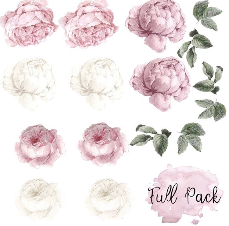 Peony & Rose Blush Wall Decals