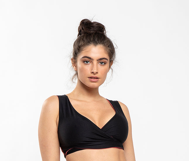 Mylo - Reversible Bikini top Black and Pink