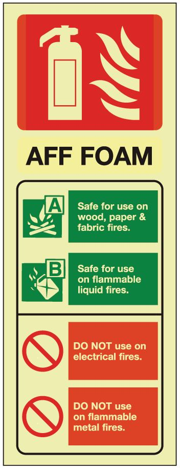 Foam ID Sign - Photoluminescent 75mm x 200mm - HartsonFire