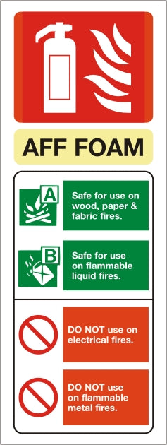Foam ID Sign - Rigid Plastic 75mm x 200mm - HartsonFire