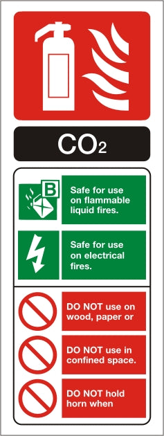 CO2 ID Sign - Rigid Plastic 75mm x 200mm - HartsonFire