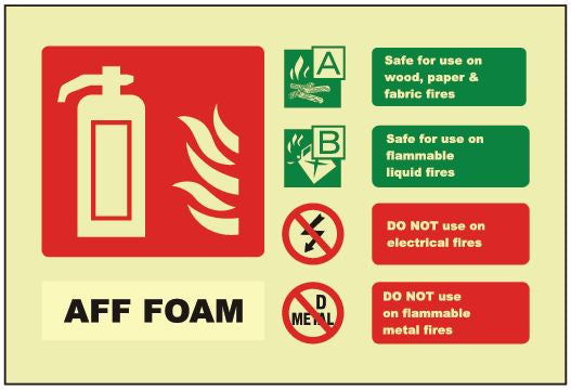 Foam ID Sign - Photoluminescent (Landscape) 150mm x 100mm - HartsonFire