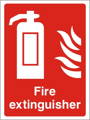 Fire Extinguisher Sign - Rigid Plastic 150mm x 200mm - HartsonFire