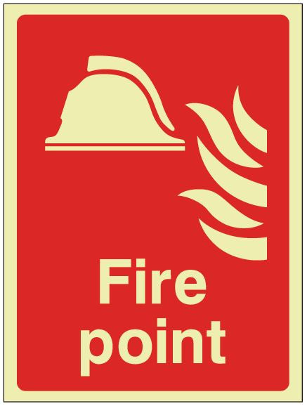 Fire Action Point Sign - Photoluminescent 150mm x 200mm - HartsonFire