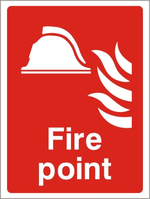 Fire Action Point Sign - Rigid Plastic 150mm x 200mm - HartsonFire