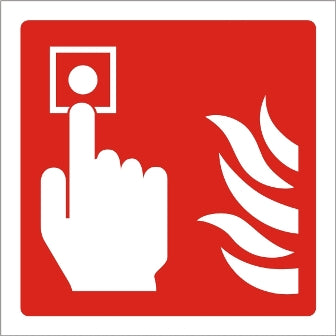 Fire Alarm Point Sign - Rigid Plastic 100mm x 100mm - HartsonFire