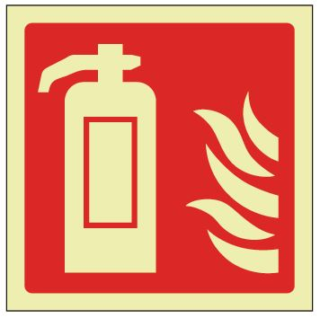 Fire Extinguisher Sign - Photoluminescent 150mm x 200mm - HartsonFire