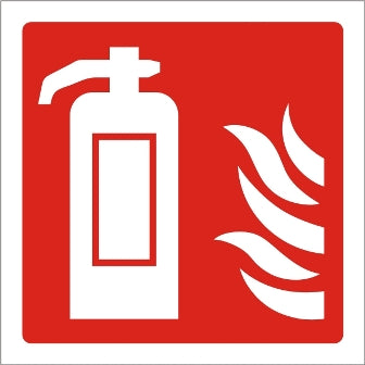 Fire Extinguisher Picto Sign - Rigid Plastic 100mm x 100mm - HartsonFire