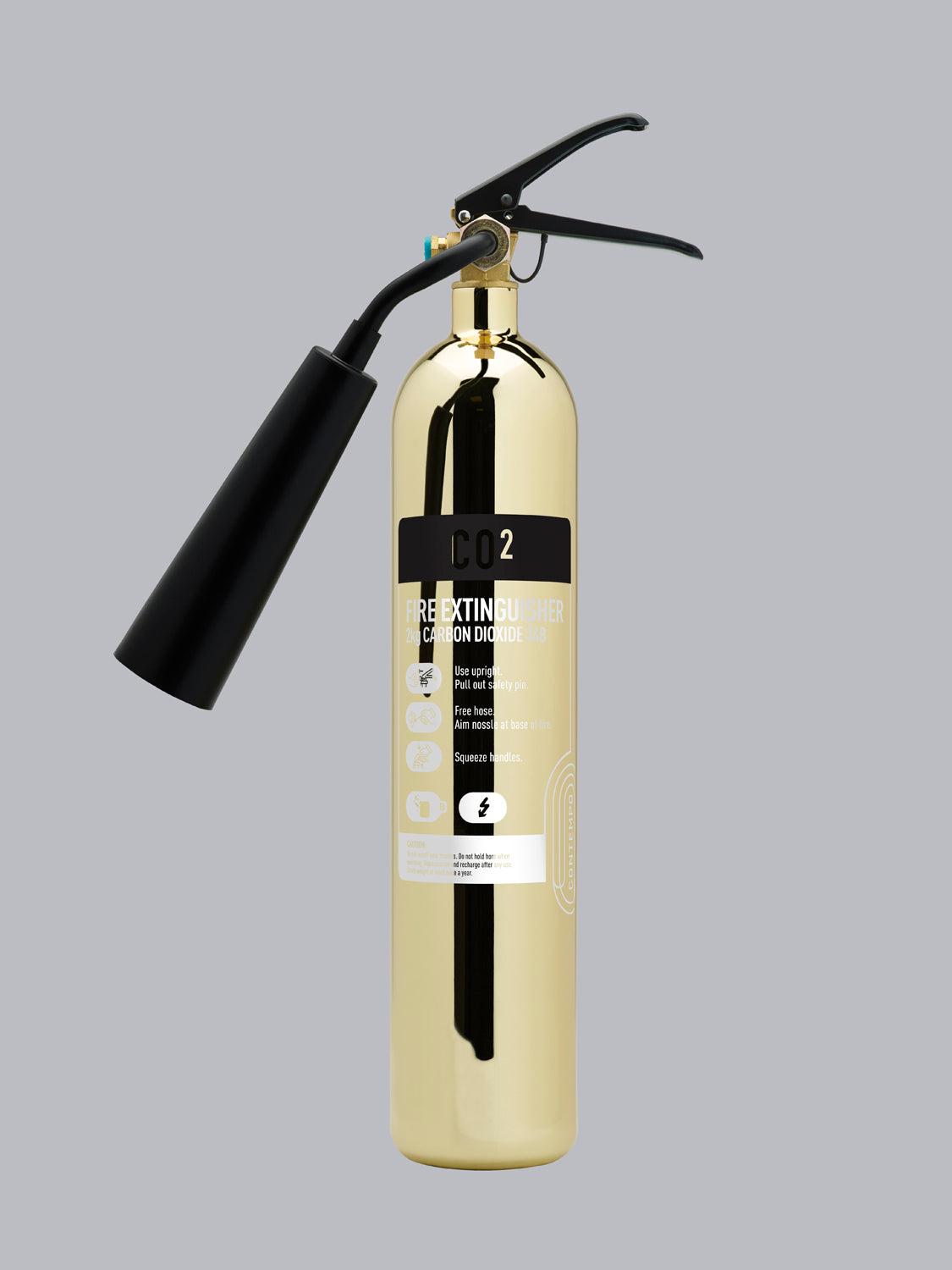 Commander Contempo 2kg CO2 - Polished Gold - HartsonFire